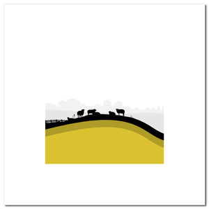Sheep Hills 3 - Ochre - Large