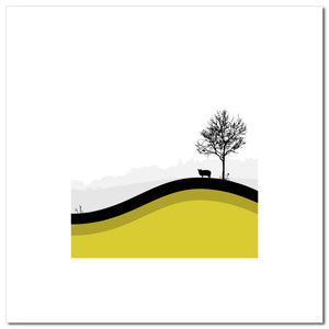 Sheep Hills 4 - Ochre - Large