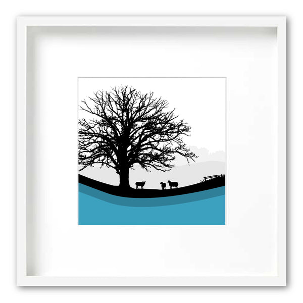 Sheep Hills 2 - Blue - Large