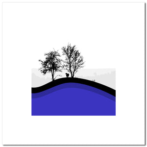 Sheep Hills 5 - Blue - Large