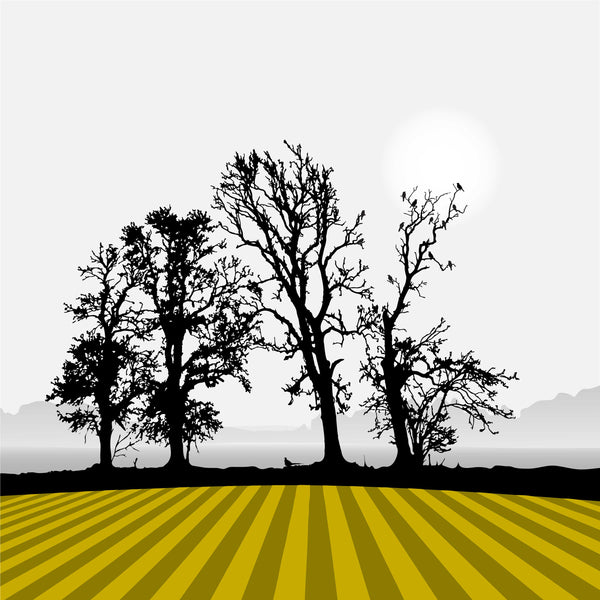 Ploughed Field - Ochre - Large