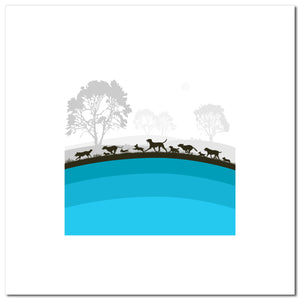 The Dogs - Turquoise - Large