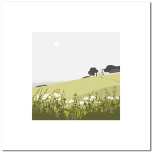 Rodborough Fort with Flowers - Green - Large