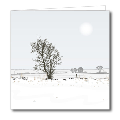 Chalford Fields Snowy Blank Card