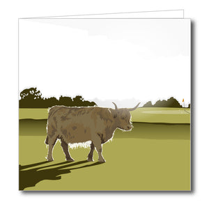Highland Green Blank Card