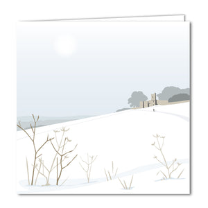 Rodborough Fort Snowy Blank Card