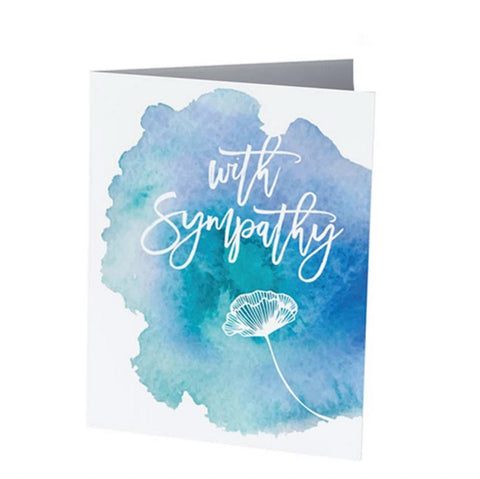 WITH SYMPATHY  |  Condolences Card