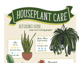 HOUSEPLANT CARE REFERENCE poster  |  for plant moms and dads