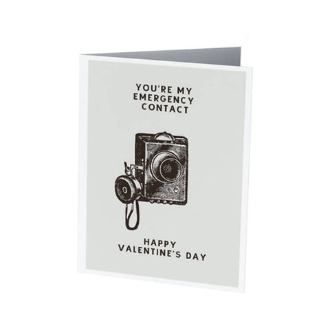 EMERGENCY CONTACT | Funny Valentine's Day card