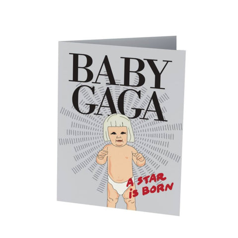 BABY GAGA |  Funny Baby Card  | Baby Shower  |  New Parents | Baby & Expecting Cards