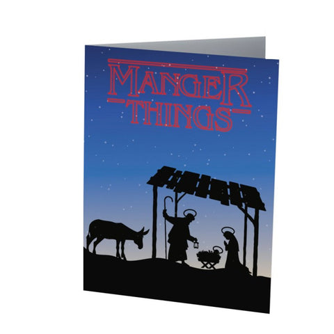 MANGER THINGS |  Funny Christmas card