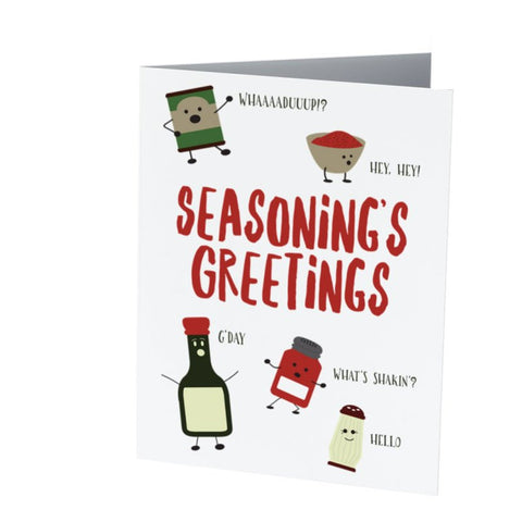 SEASONING'S GREETINGS  |  Funny Christmas card