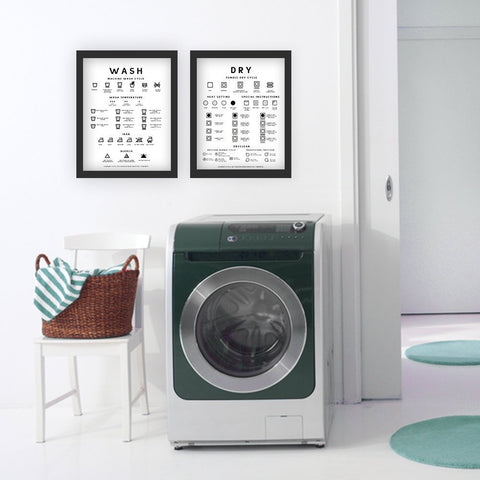 LAUNDRY ROOM reference/guide poster/print  |  DRY