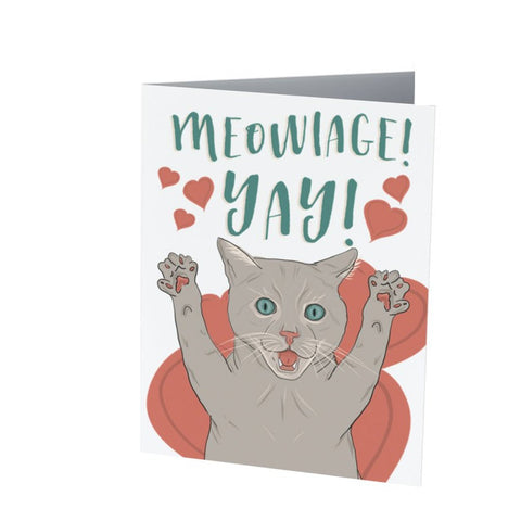 MEOWIAGE! YAY! | Marriage/Wedding card