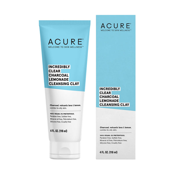 Acure Incredibly Clear Charcoal Lemonade Cleansing Clay - 118ml