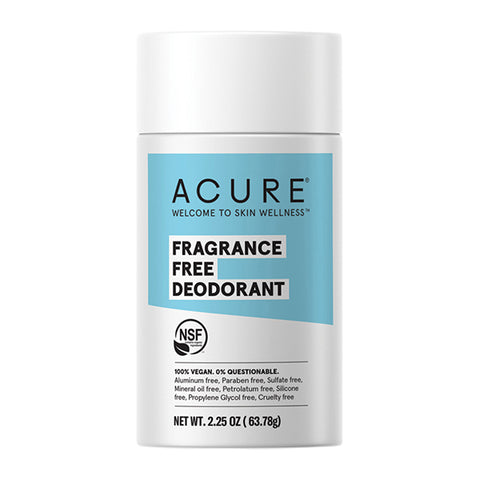Acure Fragrance Free Deodorant - 63.7g