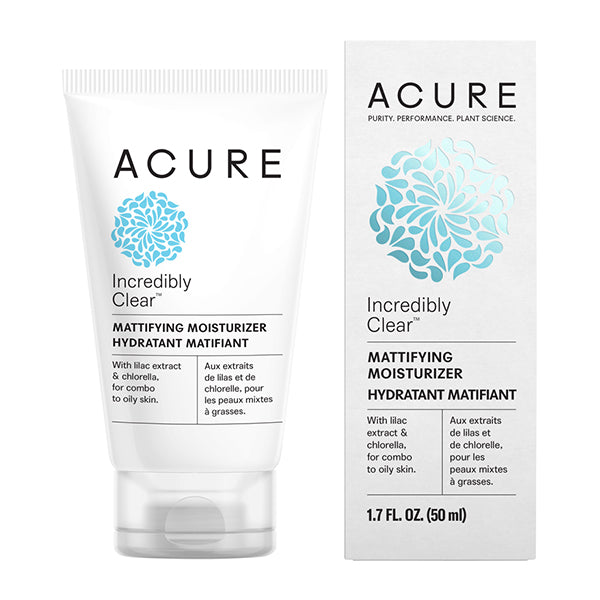 Acure Incredibly Clear Mattifying Moisturiser - 50ml