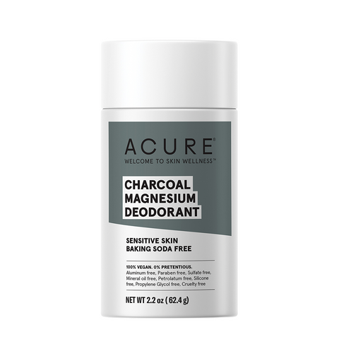 Acure Charcoal Magnesium Deodorant - 62.4g