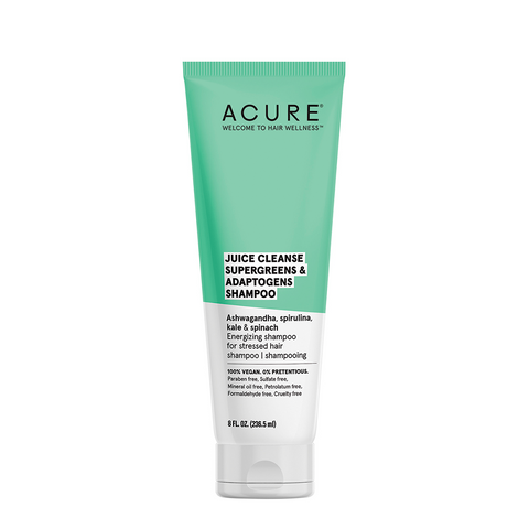 Acure Juice Cleanse Supergreens & Adaptogens Shampoo - 236ml