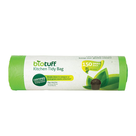 Biotuff General Use Bin Liners 150 Small Bags - 8L