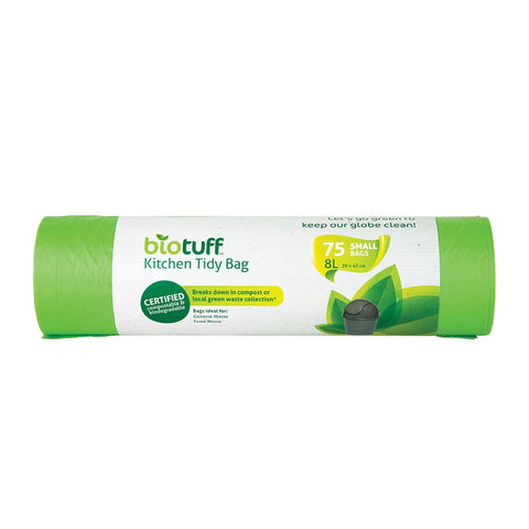 Biotuff General Use Bin Liners 75 Small Bags - 8L