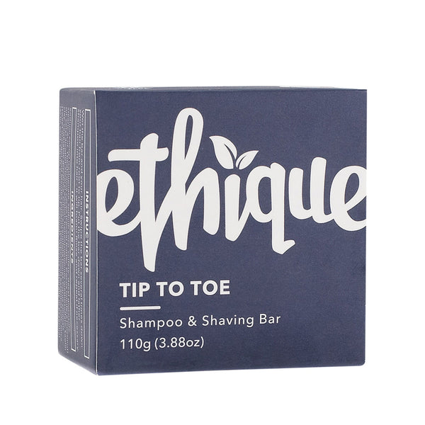 Ethique Tip-To-Toe Solid Shampoo & Shave Bar - 110g