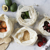 Ever Eco Organic Cotton Bag Mixed Set - 4 x Reusable Bags