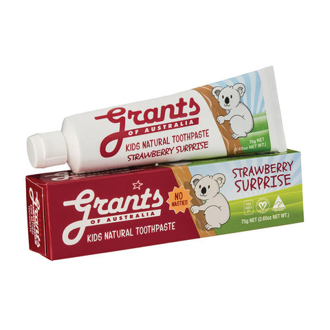 Grants of Australia Kids Strawberry Surprise Toothpaste - 75g
