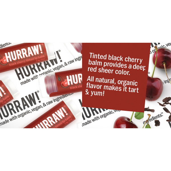 Hurraw Organic Lip Balm Black Cherry Tinted - 4.3g