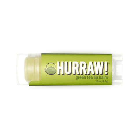 Hurraw Organic Lip Balm Green Tea - 4.3g