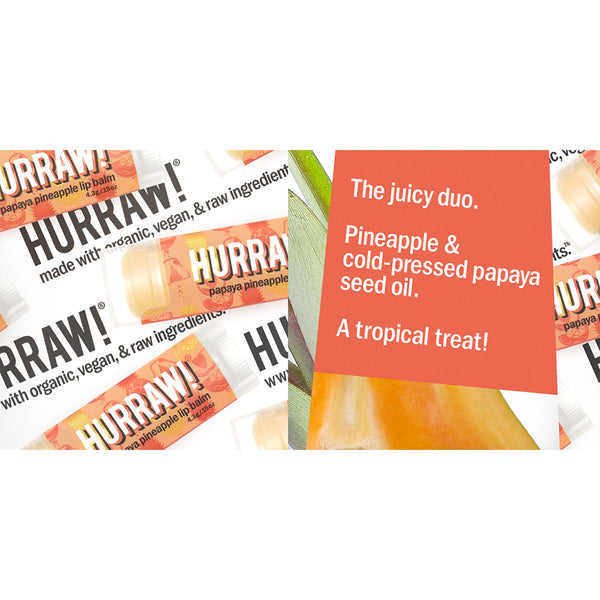 Hurraw Organic Lip Balm Papaya Pineapple - 4.3g