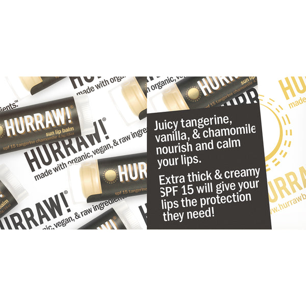 Hurraw Organic Lip Balm Sun Protection SPF 15 - 4.3g