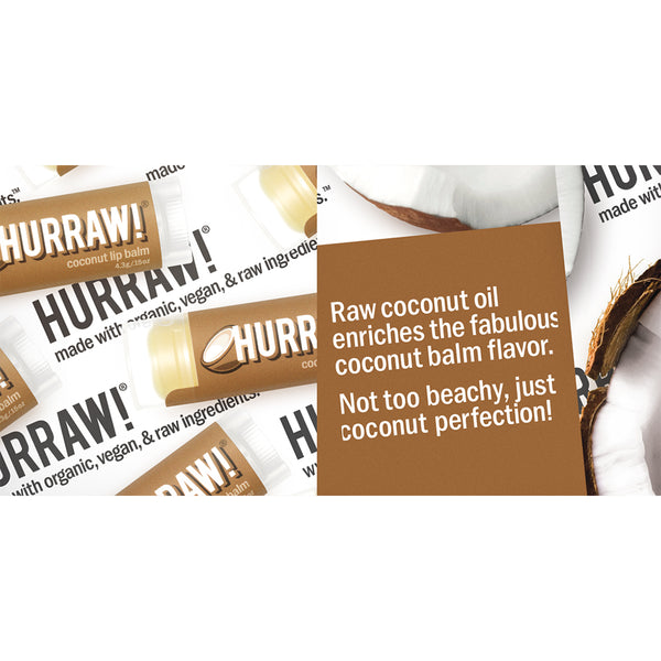 Hurraw Organic Lip Balm Coconut - 4.3g