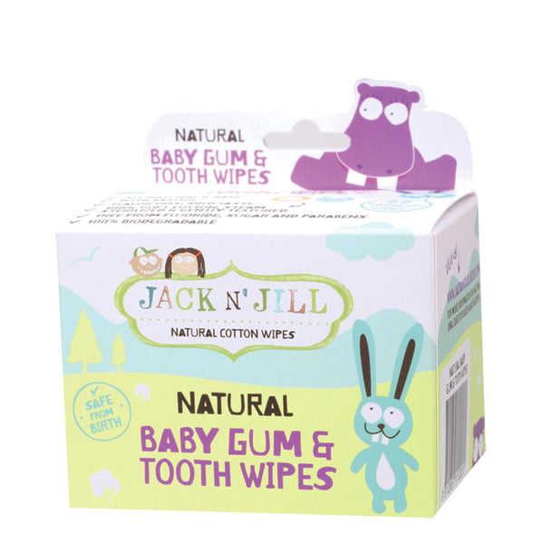 Jack N' Jill Baby Gum & Tooth Wipes - 25 wipes
