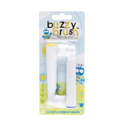 Jack N' Jill Buzzy Brush Kids Toothbrush Replacement Heads 2pk