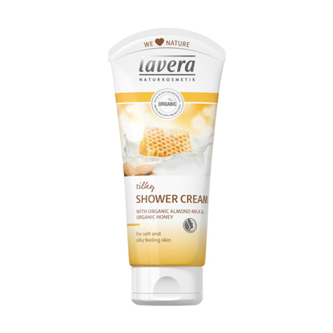 Lavera Silky Shower Cream Organic Almond Milk & Honey - 200ml