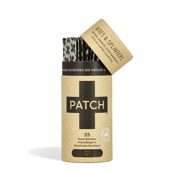 Patch Activated Charcoal Adhesive Bandages - Tube of 25