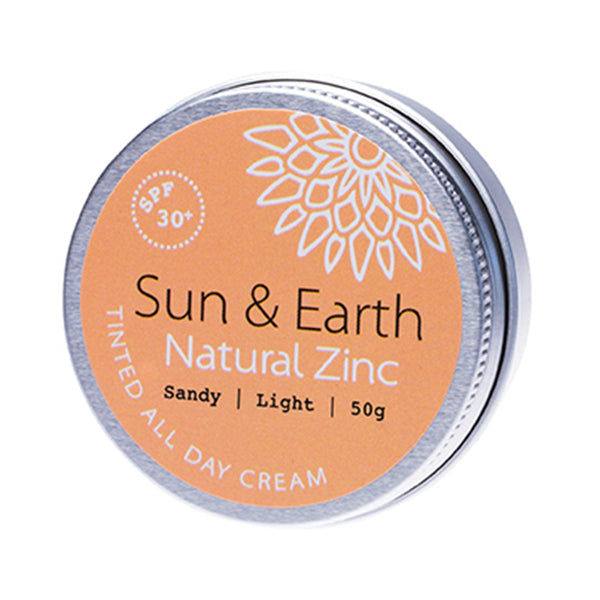 Sun & Earth Natural Zinc Tinted All Day Cream Sandy Light - 50g