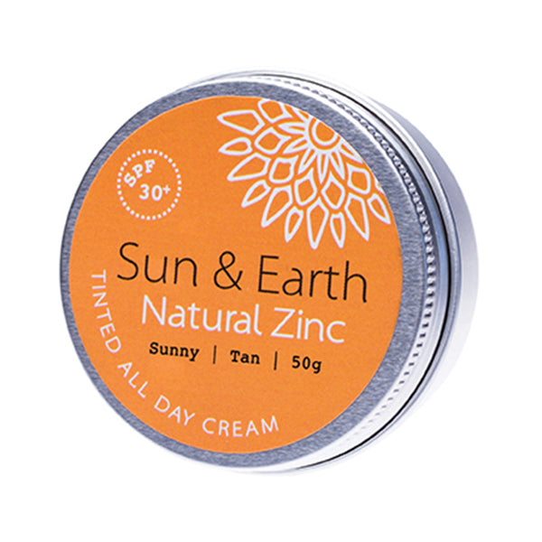 Sun & Earth Natural Zinc Tinted All Day Cream Sunny Tan - 50g