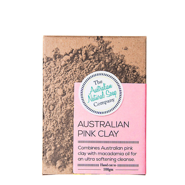 The Australian Natural Soap Company - Australian Pink Clay Facial Soap 100g