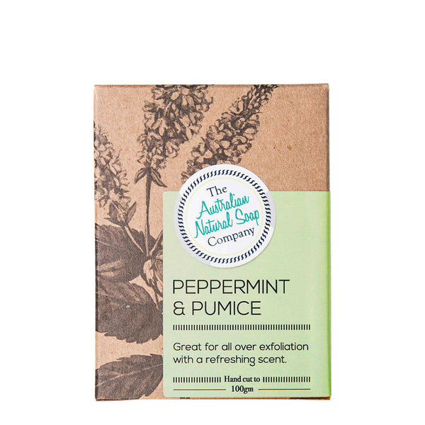 The Australian Natural Soap Company - Peppermint & Pumice 100g