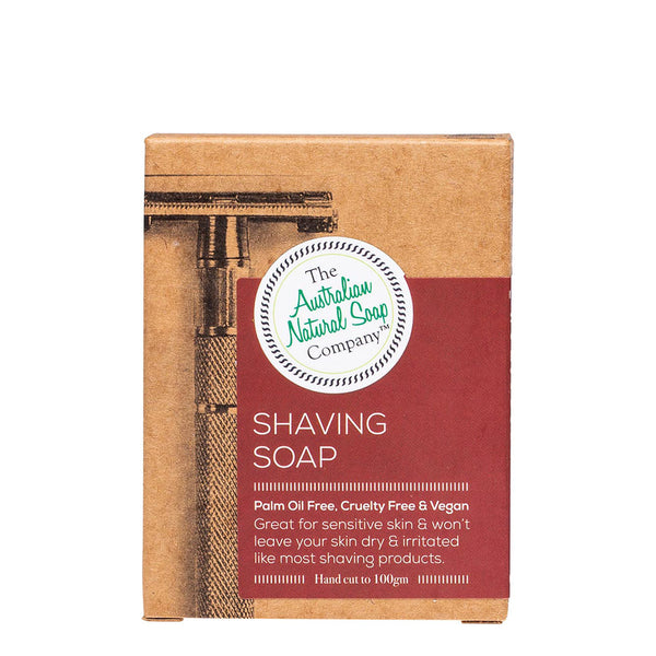 The Australian Natural Soap Company - Shaving Soap Bar 100g
