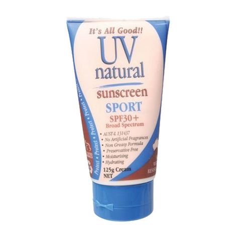 UV Natural Sunscreen Sport SPF 30+ - 125g
