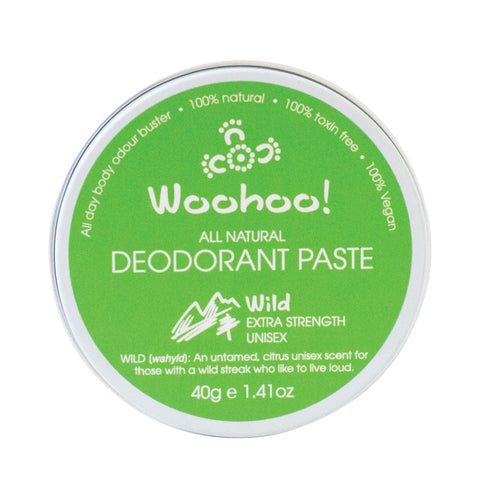 Woohoo All Natural Deodorant Paste - Wild 40g