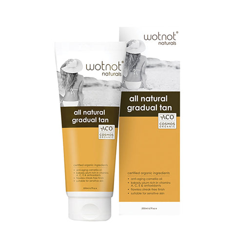 WOTNOT Natural Golden Gradual Tanning Lotion - 200ml