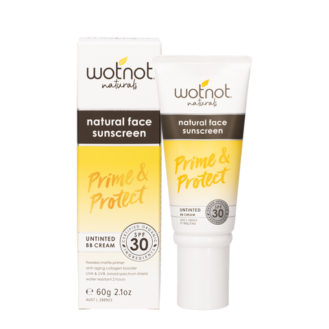 WOTNOT Natural Face Sunscreen & Untinted BB Cream - 60g