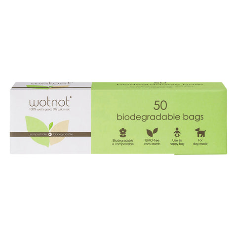 WOTNOT Biodegradable Nappy Bags - 50 pack