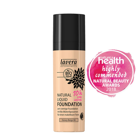 Lavera 10 hr Liquid Foundation Honey Beige - 30ml