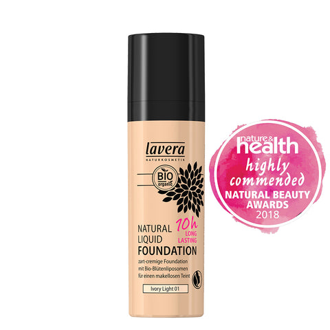 Lavera 10 hr Liquid Foundation Ivory Light - 30ml