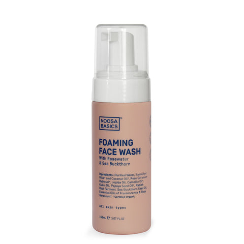 Noosa Basics Foaming Face Wash with Rosewater & Sea Buckthorn - 150ml